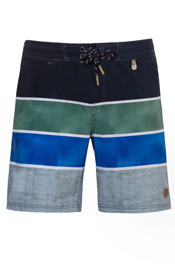 Bagus-Herren-Badehose-Men-Swim-Shorts-Olive-Blue-Color-Gruen-Blau-Farbe-Geometri-Graphic-Streifen_Print-Swimwear-Southcoast-Wasser-Sport