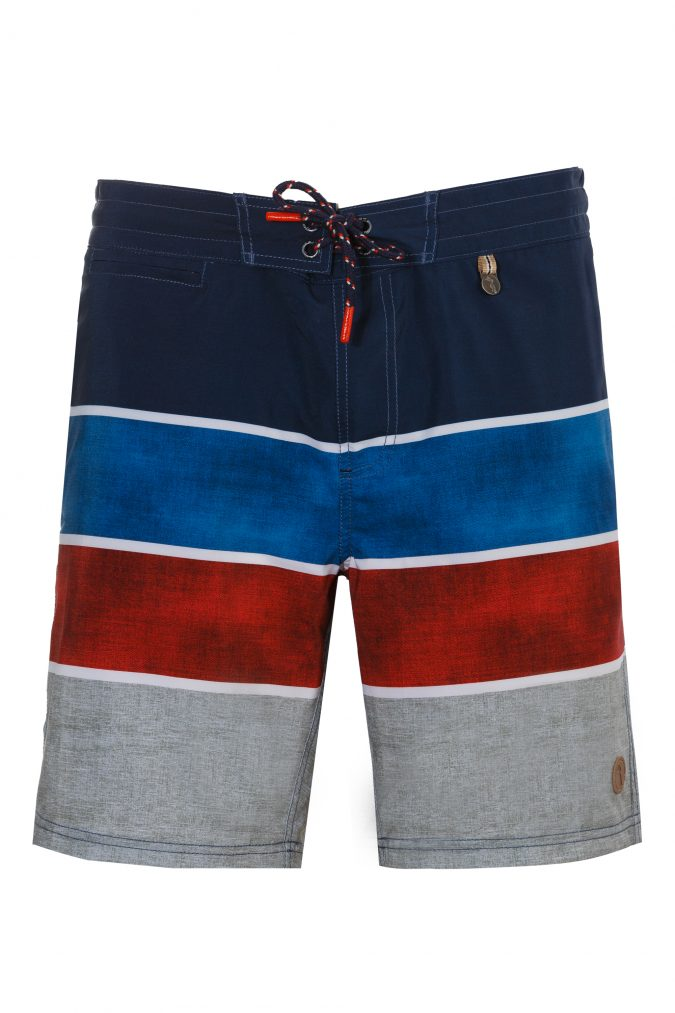 Bagus-Herren-Badehose-Men-Swim-Shorts-Blue-Color-Brick-Blau-Farbe-Geometri-Graphic-Streifen_Print-Swimwear-Southcoast-Wasser-Sport