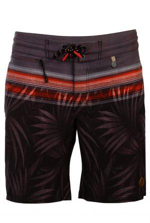 Gili-Herren-Beachshorts-Badehose-Men-Swim-Shorts-Grey-Color-Grau-Farbe-Palm-Print- Tropica