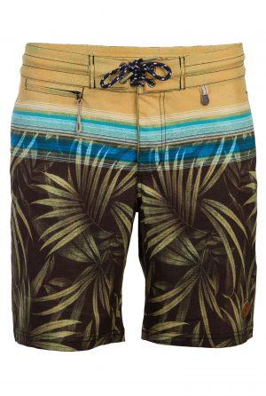 Gili-Herren-Badehose-Men-Swim-Shorts-Coconut-Color-Grau-Braun-Farbe-Palm-Print- Tropical