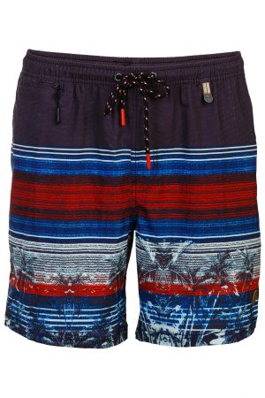 Batu-Herren-Badehose-Men-Swim-Shorts-Navy-Red-Rot-Color-Farbe-Palm-Print- Tropical-Swimwear-Southcoast-camouflage-trend-water-sport-Wasser-Sport