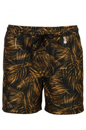 Punai-Herren-Badehose-Men-Swim-Shorts-Coconut-Color-Rot-Braun-Farbe-Palm-Print- Tropical