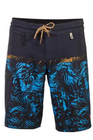 Sambas-Herren-Board-shorts-Badehose-Men-Swim-Shorts-Blue-Color-Blau-Farbe-Palm-Print- Tropical
