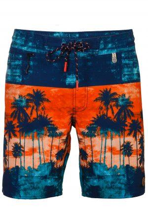 Setia-Herren-Badehose-Men-Swim-Shorts-Navy-Red-Rot-Color-Farbe-Palm-Print- Tropical-Swimwear-Southcoast-Wasser-Sport