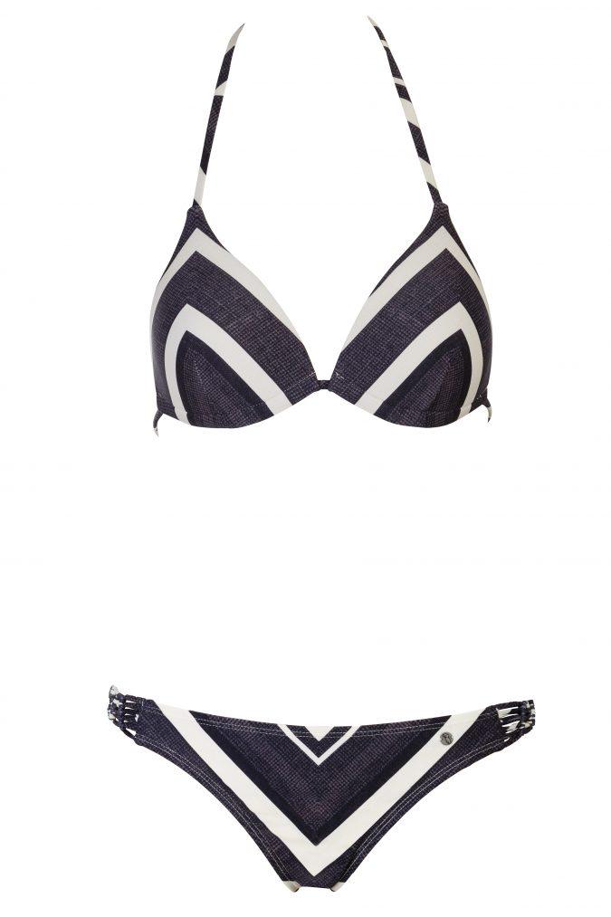 Zahara-Bikini-Set-Triangle-Push-up-soft-cup-Spaghetti-Traeger-Dark-Tropical-Paradise-Southcoast-Swimwear-Bali-Geometrie-Bold-Stripes-Streifen