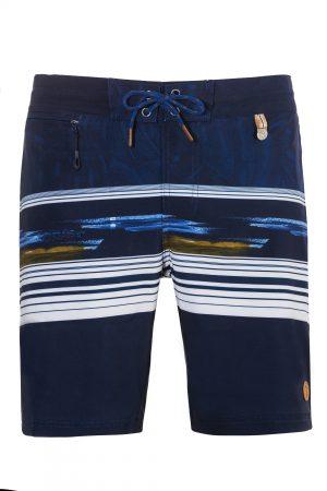 Madura-Herren-Badehose-Men-Swim-Shorts-Marine-Blue-Color-Blau-Farbe-Geometri-Graphic-Streifen_Print-Swimwear-Southcoast-Wasser-Sport