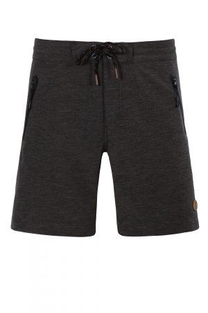 Roti-Herren-Badehose-Men-Swim-Shorts-Black-Solid-Color-Schwarz-Einfarbig-Melange-Elastisch-Stoff-Swimwear-Southcoast-Wasser-Sport