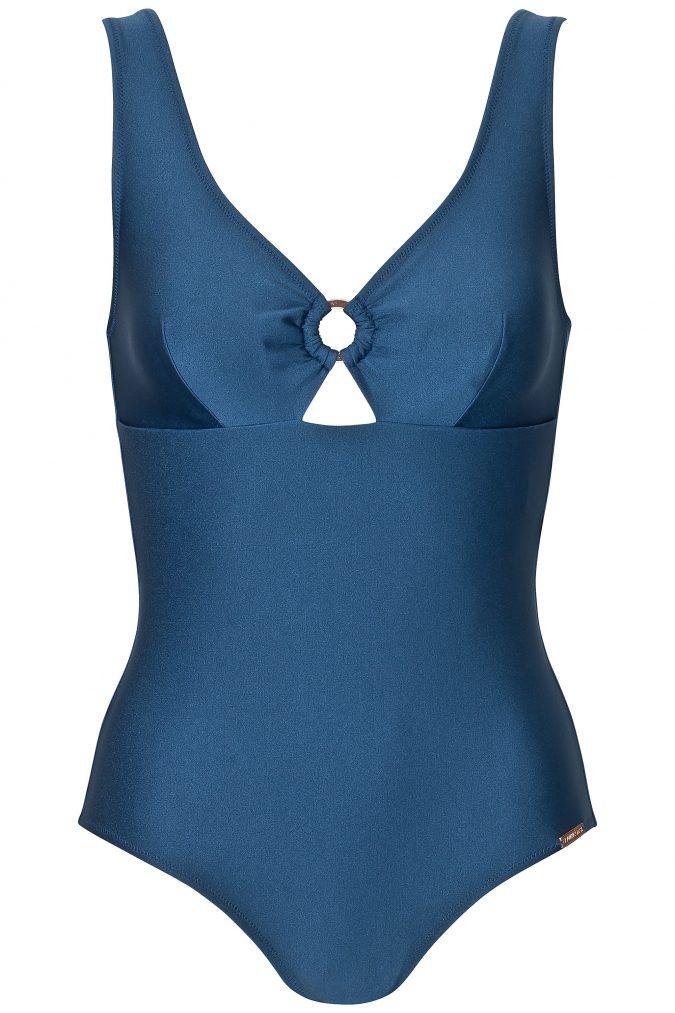 Badeanzug-Eva-Bathing-suit-body-shaping-Power-Mesh-Southcoast-Swimwear-Blau-Solid-Blue-Minimalistisch-Neckholder-