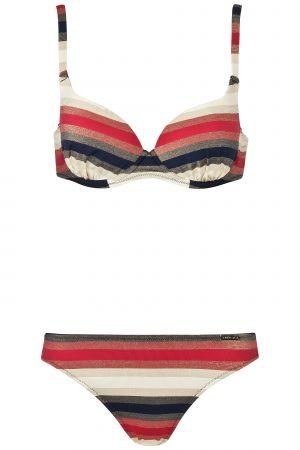 Melasti-Stripes-Bikini-Buegel-Soft-Cups-Breiter- abnehmbaren-Traeger-Lurex-Streifen-Stoff-Bademode-Paradise-Southcoast-Swimwear-Bali-groesserer-Cups