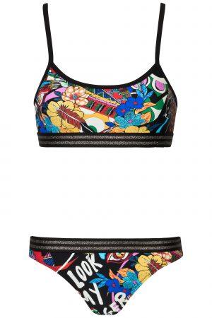 Sporty-Bralette-Bikini-set-Komik--Animal-Print-colour-Farbe-Lurex-Surf-Bikini-Top-Tropical-Nature-Flirty-Paradise-Motive-Bali-Swimwear