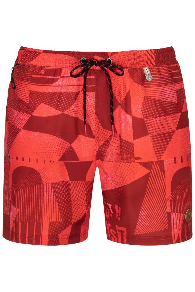 Swim-Shorts-Mens-Swimwear-Southcoast-camouflage-red-graphics-geometri-prints-summer-trend-water-sport-Wasser-Sport-Badehose-