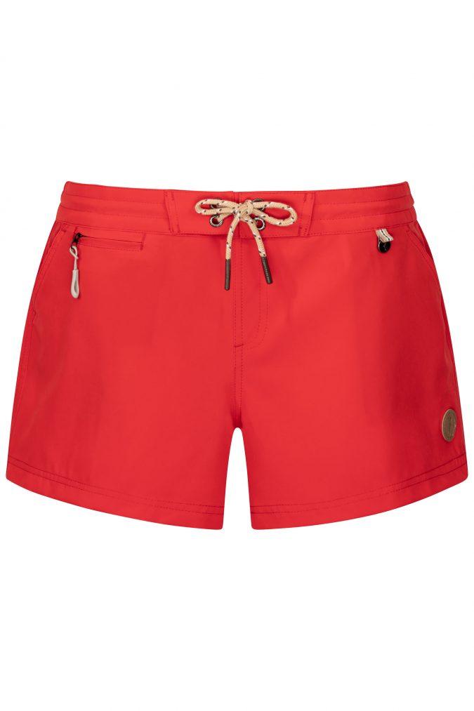 Red-Beachshort-summer-trend-water-sport-Wasser-Sport-Schwarze-Badehose-Frauen