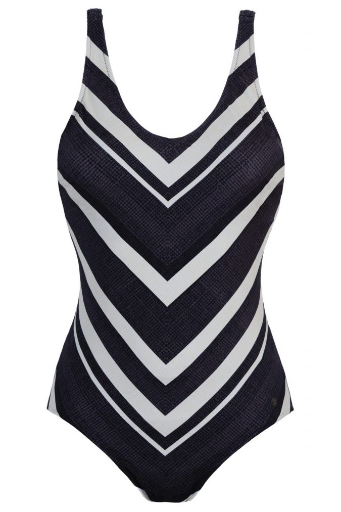 Badeanzug-Jasmin-Bathing-suit-body-shaping-Power-Mesh-Southcoast-Swimwear-Dark-Stripes-Streifen-Geometrie-Hawaii-Bali