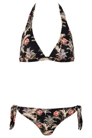 Jules-Neckholder-Bikini-Dark-Palm-Paradise-Tropical-Southcoast-Swimwear-Tie-Knotted