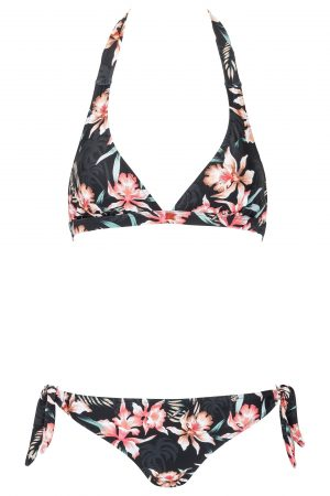 Jules-Neckholder-Bikini-Dark-Jungle-Paradise-Tropical-Southcoast-Swimwear-Tie-Knotted