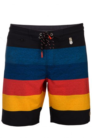 Herren-Badehose-Men-Swim-Shorts-Red-Rot-Gelb-Streifen-Swimwear-Southcoast-Color-Block-Stripes-print-trend-water-sport-Wasser-Sport