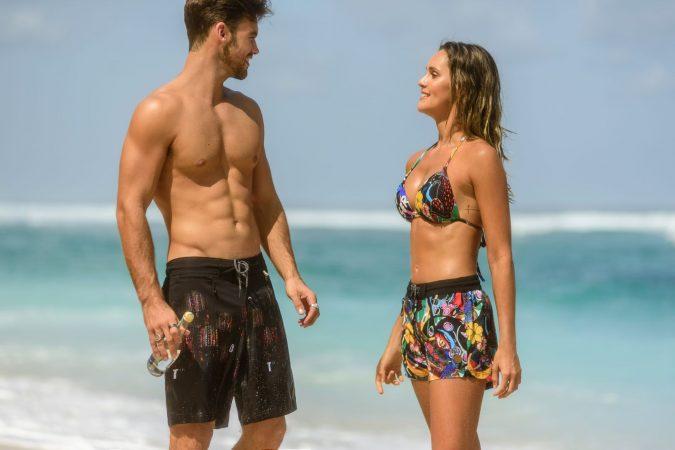 Cool-Print-Komik-Beachshort-summer-trend-water-sport-Wasser-Sport-Schwarze-Badehose-Frauen-Swimwear-Bali-Paradise