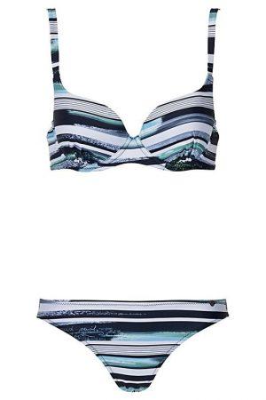 Melasti-Bikini-Buegel-Soft-Cups-Breiter- abnehmbaren-Traeger-Tropical-Paradise-Southcoast-Swimwear-Bali-Geometrie-Streifen-Stripes-groesserer-Cups
