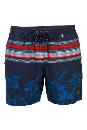 Padang-Herren-Badehose-Men-Swim-Shorts-Navy-Red-Rot-Color-Farbe-Palm-Print- Tropical-Swimwear-Southcoast-camouflage-trend-water-sport-Wasser-Sport