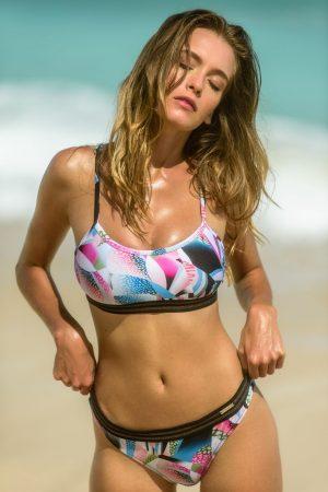 Sporty-Bralette-Bikini-set-Neon-colour-Farbe-Lurex-Surf-Bikini-Top-Tropical-Nature-Paradise-Motive