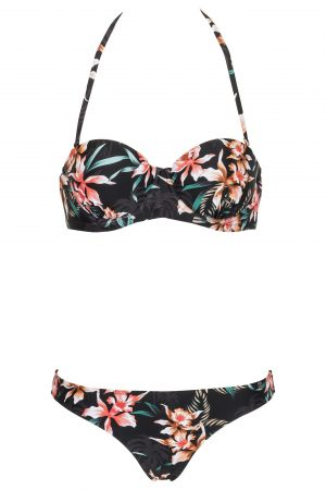 Paradise-found-Riri-Bandeau-Push-up-Cup-Bikini-Set-Southcoast-Swimwear-Dark-Tropical-Jungle-Hawaii-Bali