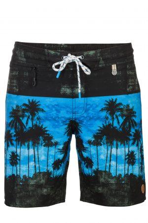 Setia-Herren-Badehose-Men-Swim-Shorts-Grey-Blue-Color-Grau-Blau-Farbe-Palm-Print- Tropical