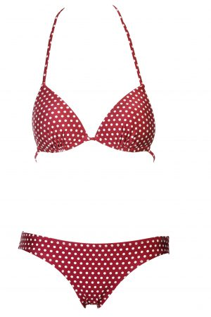 Zahara-Bikini-Set-Triangle-Push-up-soft-cup-Spaghetti-Traeger-Red-Rot-Bordeaux-Puenktchen-Polka-Dot-Prints-Southcoast-Swimwear-Bali