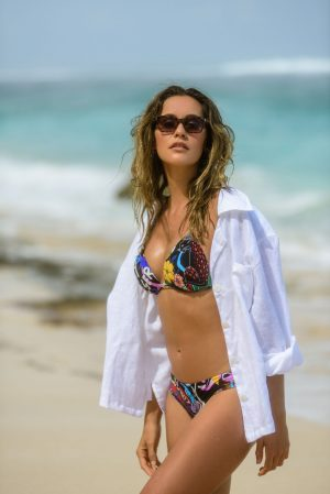 Zahara-Bikini-Set-Triangle-Push-up-soft-cup-Spaghetti-Traeger-Komik-Jungle-Tropical-Leafs-Animal-Prints-Tiger-Paradise-Southcoast-Swimwear-Bali